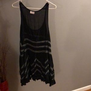 Voile free people trapeze slip swing dress size s